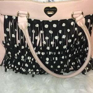 Betsy Johnson flapper bag w/polka dots